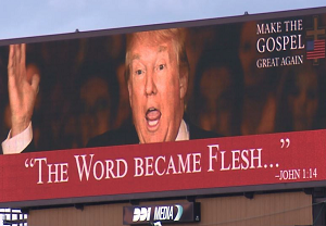 Billboard for antichrist trump